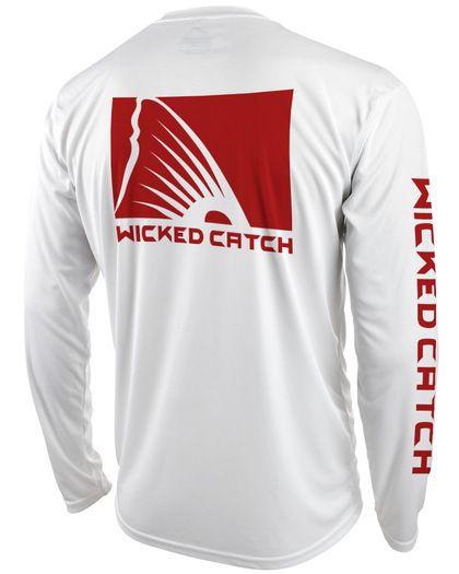 Wicked Catch men's long sleeve performance fishing shirt featuring UPF 50 sun protection. #fishingshirt