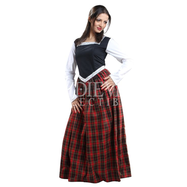 even the look of a scottish lass off the moors can be easily done with the right attire and this ladies highland dress is just the right attire for those - Scottish Girl Halloween Costume
