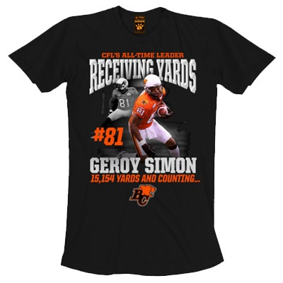Women's Geroy Simon Record-Breaking T-shirt    $26.95