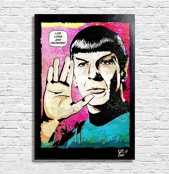 Spock Leonard Nimoy from Star Trek  Original framed fine