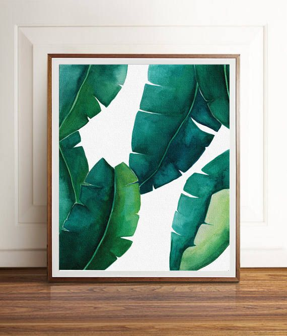 banana leaf wall print