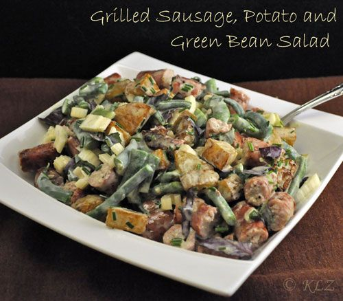 Sausage, Potato and Green Bean Salad, a nice change from pasta salads ...