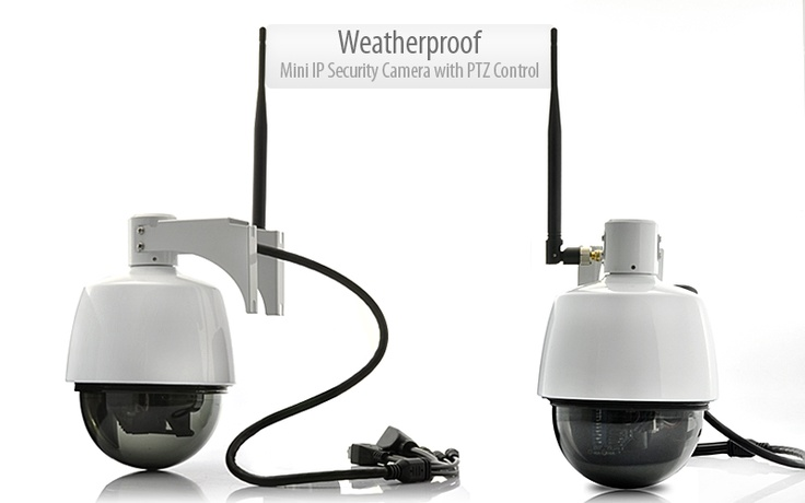 Weatherproof Mini IP Security Camera with PTZ Control (3x Optical Zoom, WiFi)                                          http://www.chinavasion.com/wsgw/: Weatherproof Mini, Optical Zoom, 3X Optical, Control 3X, Ptz Control, Mini Ip, Security Camera, Security Equipments, Ip Security