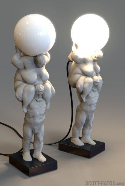 Venus of Cupertino Lamp, a work-in-progress by Scott Eaton