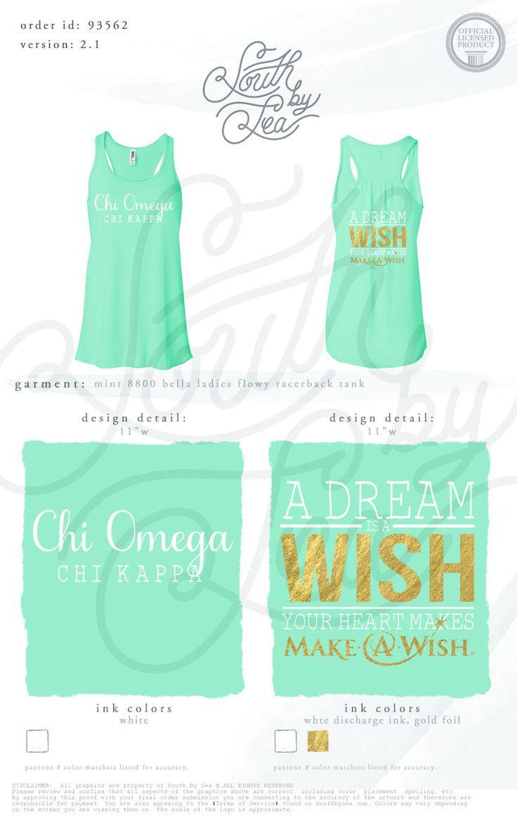 Chi Omega | Make A Wish | Chi O | Chi Omega Philanthropy | South by Sea | Sorority Shirts | Sorority Tanks | Greek Shirts