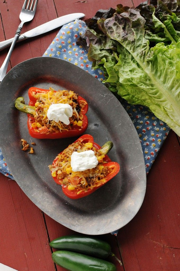 Southwest Stuffed Peppers and A Return to Normal | Eatin' on the Cheap