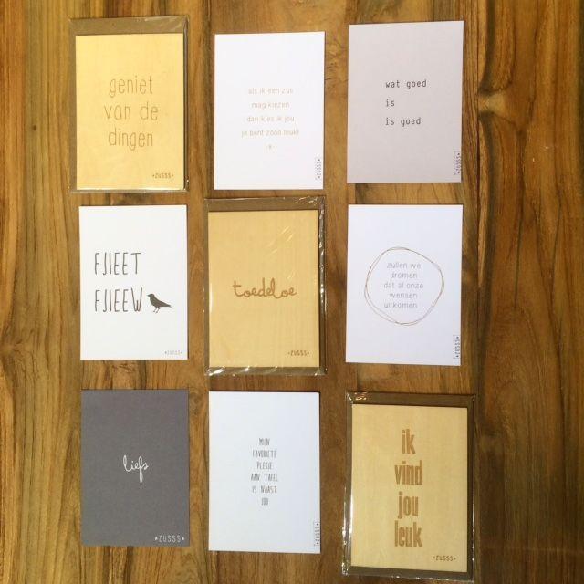 We hebben super leuke kaarten van Zusss binnen gekregen! - www.schatkamer.com