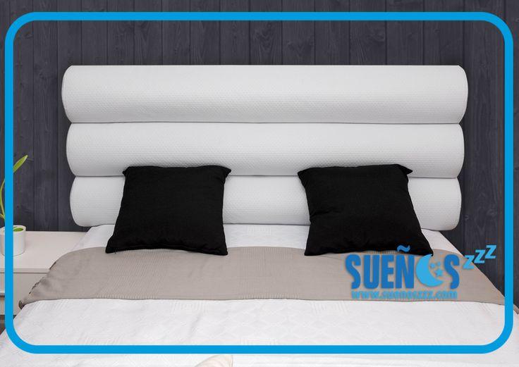 cabecero tapizado en polipiel disponible en blanco negrobeige azul pistacho