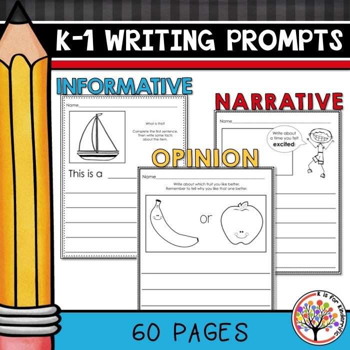 kindergarten narrative writing prompts A large list of creative writing prompts, ideas, lists, and creative writing resources for elementary school students and teachers.