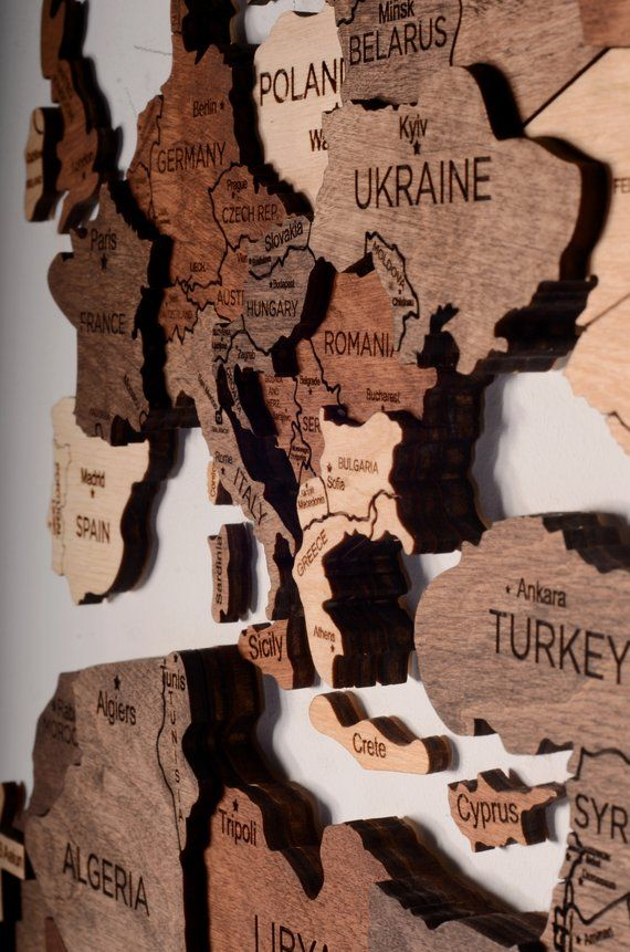 Wall Map of the World Map Wooden Rustic Home Wood Travel Wall Art 5th Anniversary Gift For Husband Fathers Day Boyfriend Wedding Couple Gift