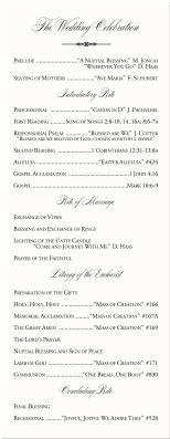Catholic Wedding Program-Wedding Program Examples Wording-Wedding Directories-Order of Service-Church Directories-Program Covers
