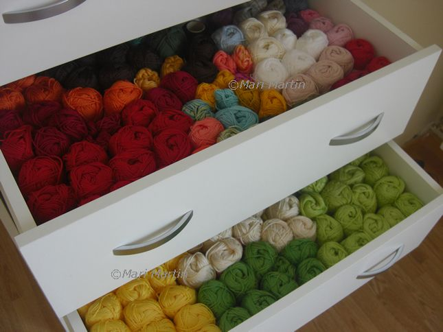 drawers for yarn storage show off all the yarn... love seeing what I have already