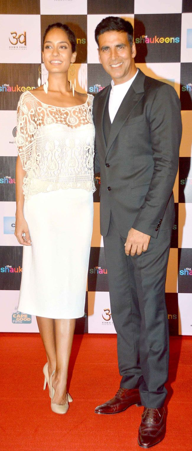 Akshay Kumar with Lisa Haydon at the trailer launch of 'The Shaukeens'