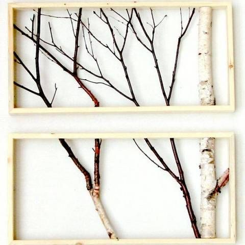 gallery wall art framed branches