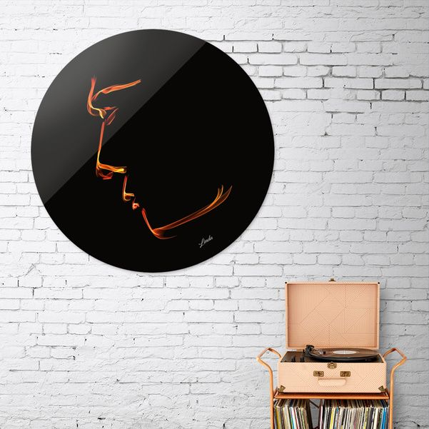 Discover «Golden Features», Exclusive Edition Disk Print by Linda Millar - From $85 - Curioos