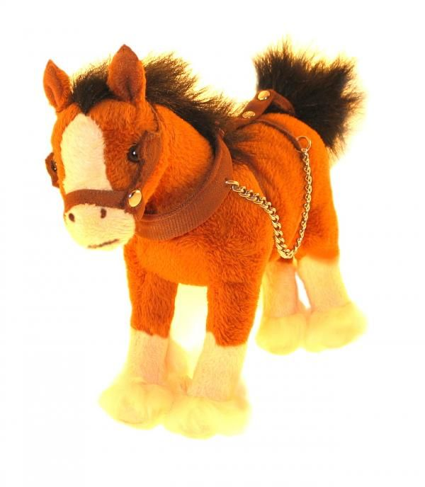 Clydesdale horse plush toy