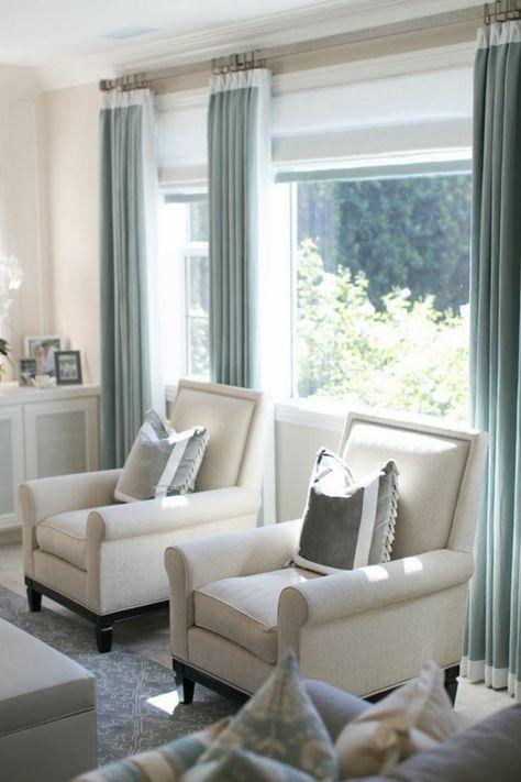 Gardinen Für Gardinenschiene fertiggardinen gardinen ideen moderne vorhänge hellblau
