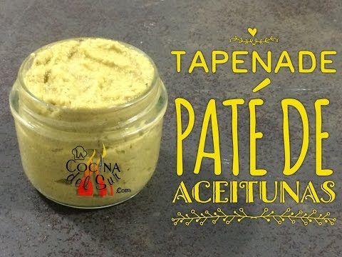 Como hacer paté de aceitunas   Tapenade    Receta paso a paso - YouTube
