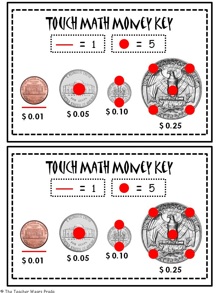 1000+ ideas about Touch Math on Pinterest | Math, Math Numbers and ...Touch Math Money More
