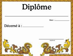 Diplome a imprimer gratuitement