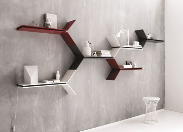 Los #estantes flotantes son una alternativa para vestir #paredes sin que se…
