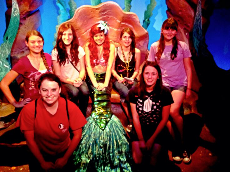 Princess Ariel in Disney world!