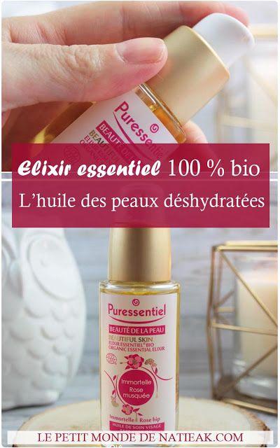 Elixir essentiel Immortelle rosée musquée de Puressentiel : l'huile de soin bio pour le visage