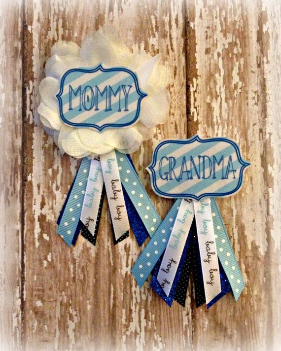 Oh Boy Baby Shower Badge by EllieKattCollection on Etsy, $9.00 2235 265 1 Monica Martinez Baby items Erika Gabler Wallace If y'all like these instead of a corsage could make them. I have practice from making homecoming mums for my boys dates.