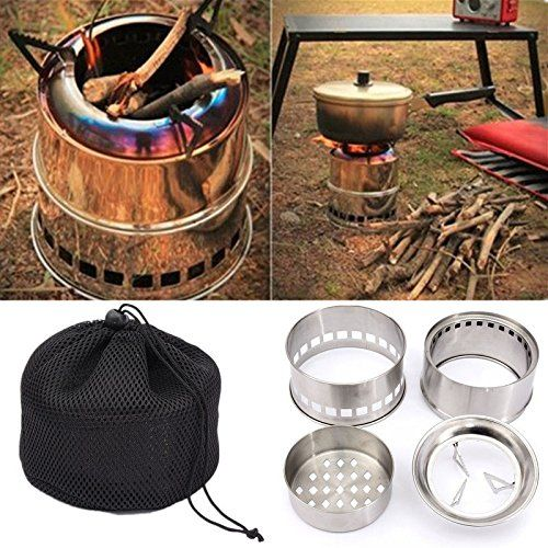 Light Weight Wood Gas Backpacking Emergency Survival Burning Camping Stove  Bag >>> Want additional info? Click on the image.