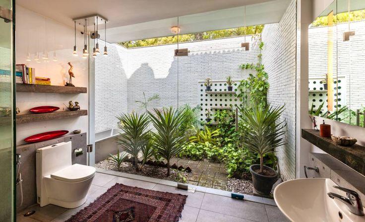 Ванные комнаты в translation missing: ru.style.Ванные-комнаты.Эклектичный. Автор - Kumar Moorthy & Associates