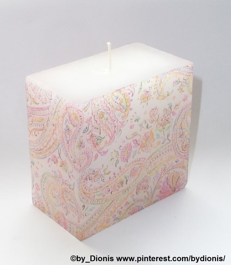 "Candle ""Kashmir print"""