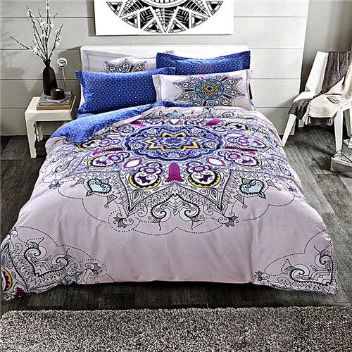 LUCKY TEXTILE bedding set 100%cotton bedding queen king size duvet cover tree deer printed bed sheet linen modern home textile