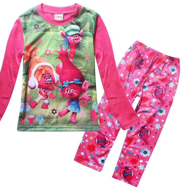 >> Click to Buy << New TROLLS Girls Pajama Sets Spring Cartoon Cotton Clothing Set For Girls Long Sleeve Shirt + Pants 2 Pieces Suit Kids Clothing #Affiliate