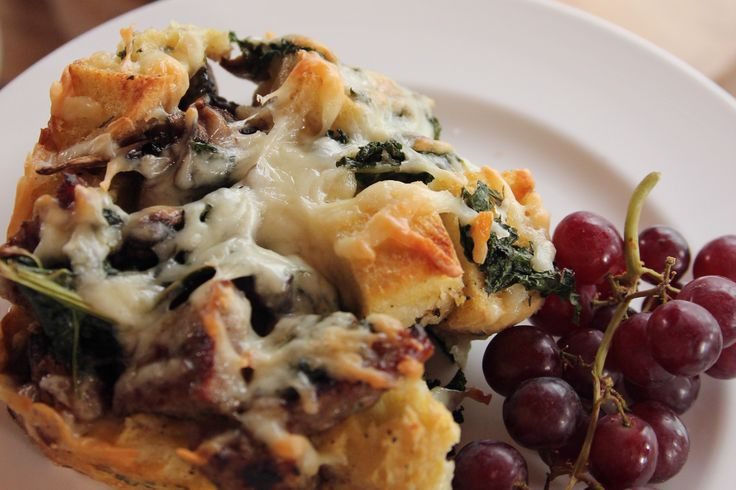 Sausage Kale Strata recipe from Ree Drummond via Food Network