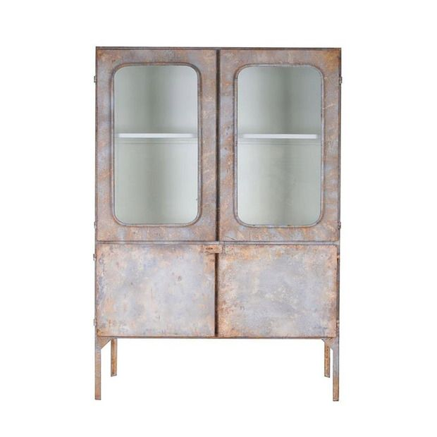Distressed Metal Medicine Cabinet Furniture I