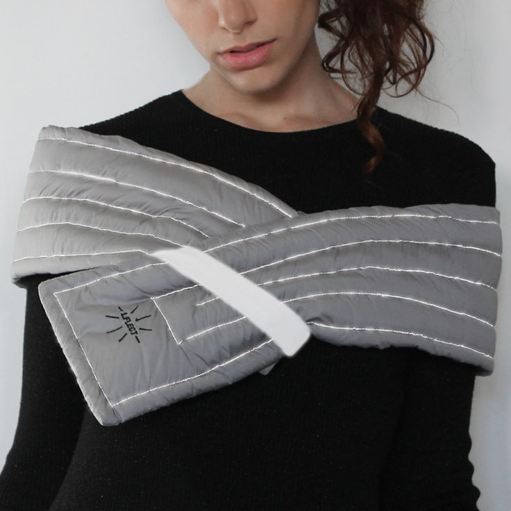 LFLECT — Quilted Coated Nylon Scarf