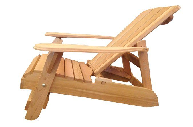 Chaise Adirondack inclinable en cèdre rouge  Ogni