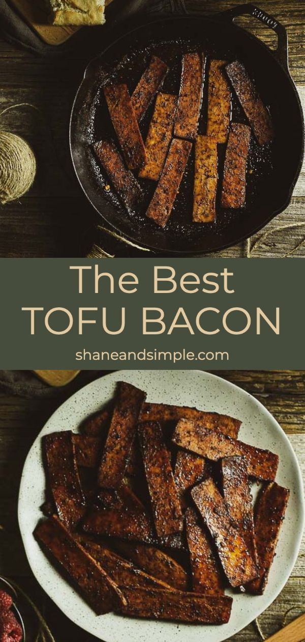 Jul 12, 2020 – This vegan Tofu Bacon is amazing! It's meaty, savory, crispy, chewy, and a little sweet. A delicious high…
