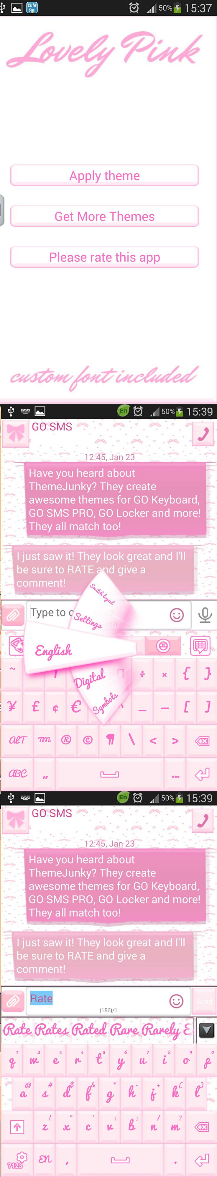 Themes in google play - Lovely Pink Go Keyboard Theme Search Themejunky On Google Play To Discover