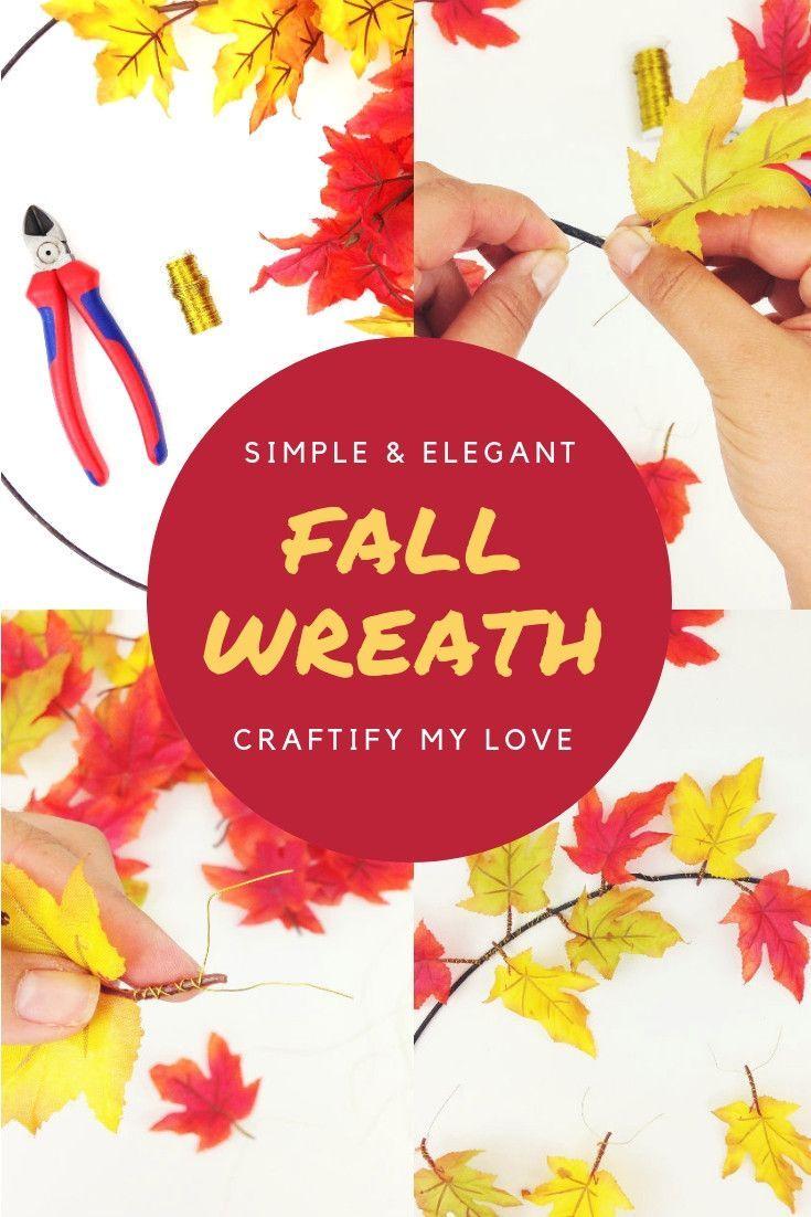 Simple & Elegant – Single Maple Leaves Fall Wreath