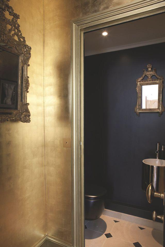 Les 25 meilleures id es de la cat gorie miroirs d 39 or en - Peindre un miroir dore ...