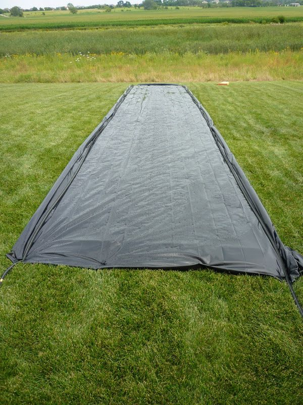 Best Homemade Slip & Slide for adults. Ever! Make sure you've got a slope & enough water. Fun, fun.