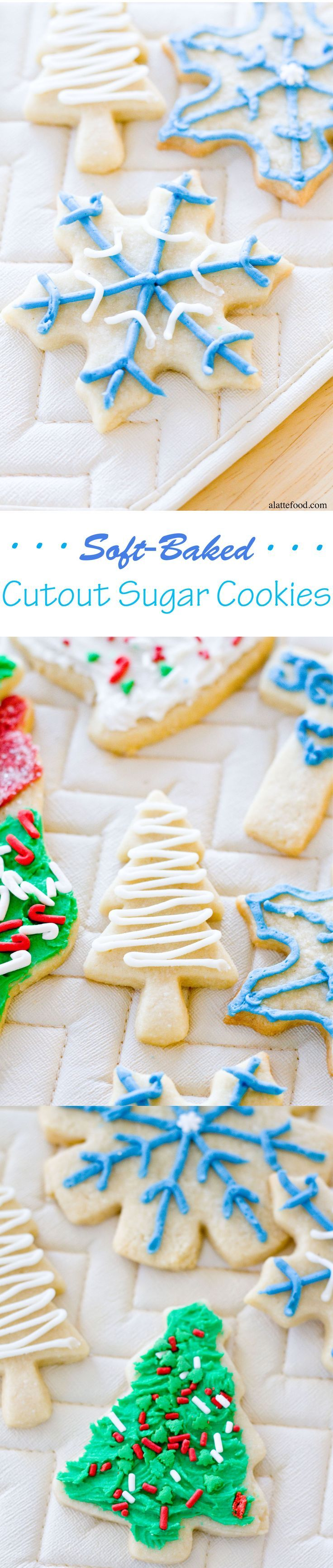 Soft-Baked Cutout Sugar Cookies | These are the perfect cookies!