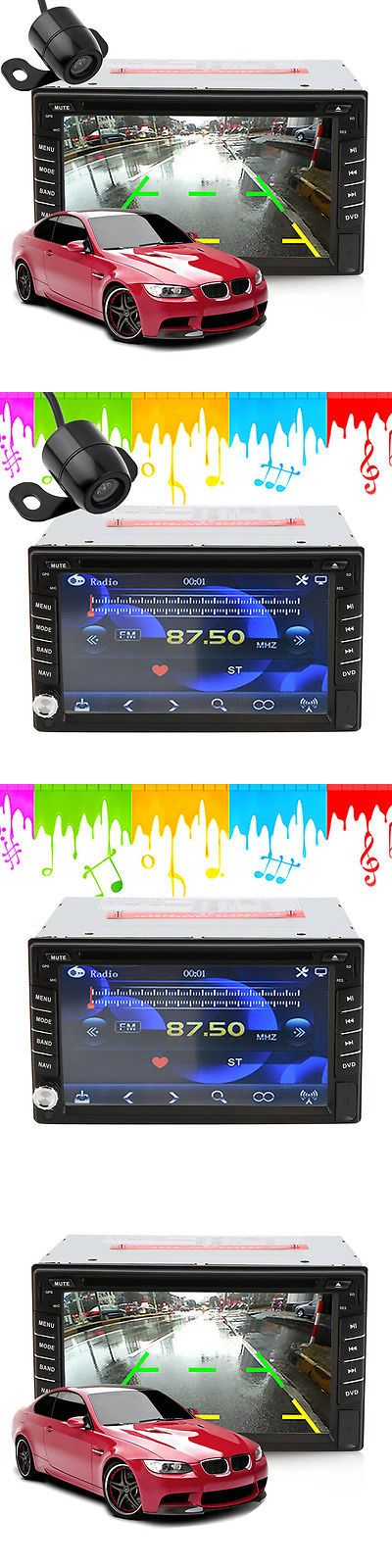 Vehicle Electronics And GPS: Double 2Din In Dash Gps Navi Car Dvd Player Bluetooth Auto Stereo Radio Usb+Cam -> BUY IT NOW ONLY: $94.97 on eBay!