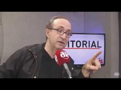 Reinaldo Azevedo esculacho legal a petista  Marilena Chauí tentando difa...