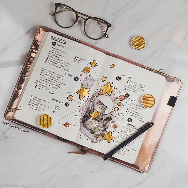 Bullet Journal Daily Spread {Ideas you'll want to try yourself!}