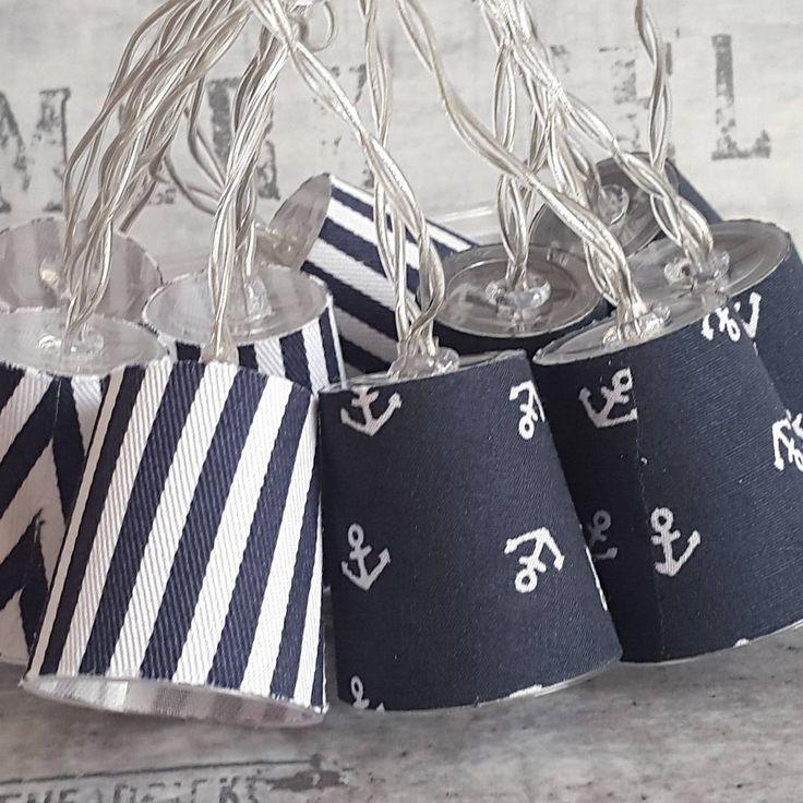 Moin, Moin ✌ #lichterkette #chainoflights #design  #maritim #anker #anchor #stoffliebe #selfmade #selbstgemacht #handmade #handgemacht #mitliebegemacht #madewithlove #deko #dekoration #interior #home #accessories #diy #dawanda #onlineshop #pouramis #hamburg