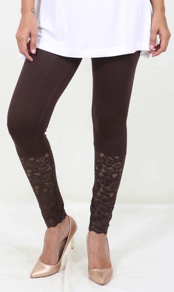 De Moza Ladies Leggings Ankle Length Viscose Lycra Brown  #harem #womensfashion #womenstops #onlinefashion #fashionbloggers #bloggerpost #jogger #palazzo #cybermonday #legging