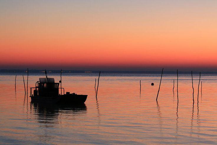 lever de soleil au Piquey