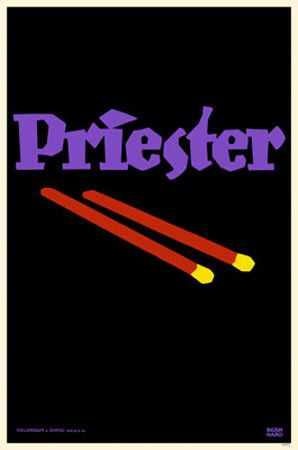 """:: Lucian Bernhard, 1906 (""""The Priester Match poster is a watershed document of modern graphic design, or rather, proto-Modern design."""") ::"""